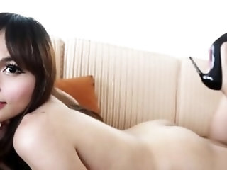 Cool ladyboy with a face experiences deep anal pounding