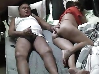 RELAXING WITH ASIAN WIFE IN BEDROOM