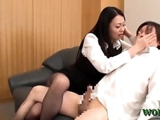 Oriental office sweetheart gets excellent sex experience