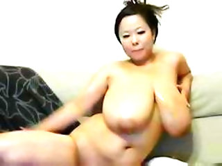 Big Asian Girl With Huge Tits Gives A Show On Her Home Webcam