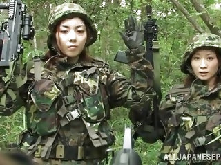 These two sexy Japanese women are in training to become top members in the army. They work out in basic training and then go on a mission. They are ca