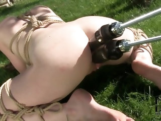Samantha Bentley is feeling quite the hardcore way today, she is all tied up and has a mechanical sex wonder fuck her in every possible hole and with