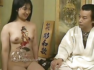 Fun With Tattooed Asian Slut